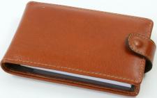 Kortelių dėkliukas, odinis, 12x7,5, oranžinis