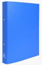 Segtuvas 2 žiedų 30mm, A4  dengtas PP, šv.mėlynas