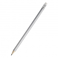 """Pieštukas """"Kyna"""", su trintuku, sidabrinis, ovalus"""