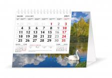 Trikampis stalo kalendorius MOBILE SERVISS GULBĖ 2021, 20,5x16 cm