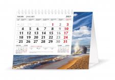Trikampis stalo kalendorius MOBILE SERVISS JŪRA 2021, 20,5x16 cm