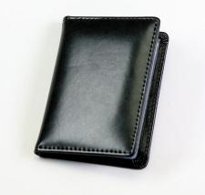 Kortelių dėkliukas, odinis, 12x7,5, juodas