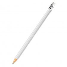 """Pieštukas """"Kyna"""", su trintuku, baltas, ovalus"""