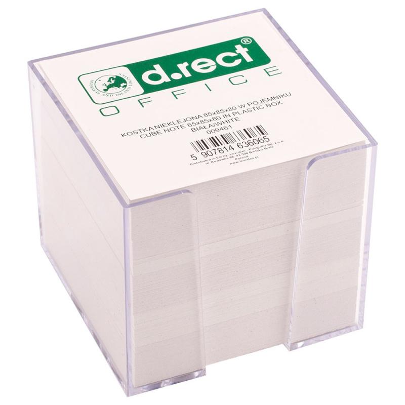"Lapeliai užrašams ""d.rect"" 85x85x40mm , balti, 800l , dėžutėje"