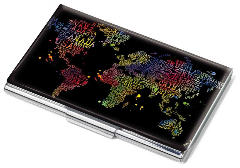 Vizitinių kortelių dėklas TROIKA COLOURFUL WORLD